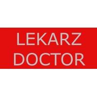 NASZYWKA ODBLASKOWA  LEKARZ / DOCTOR ZABEZPIECZENIA MEDYCZNE duża