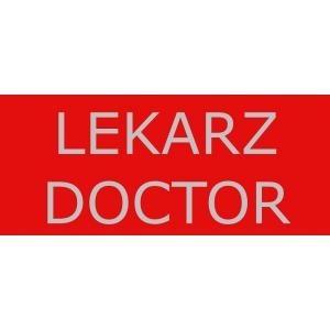 NASZYWKA ODBLASKOWA  LEKARZ / DOCTOR ZABEZPIECZENIA MEDYCZNE mała