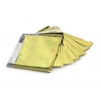 Koc ratunkowy 160 x 210 cm srebrny/złoty