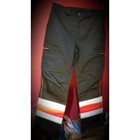 OUTLET SIGMA Spodnie letnie czarne + wstawki Neon