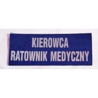 Naszywka odblaskowa na pierś KIEROWCA - RATOWNIK MEDYCZNY