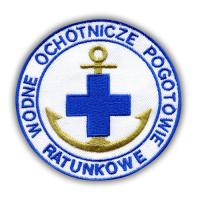 Ratownik WOPR - naszywka 9,2 cm - złota kotwica