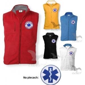 Kamizelka polarowa RATOWNICTWO MEDYCZNE 2 - haftowane emblematy